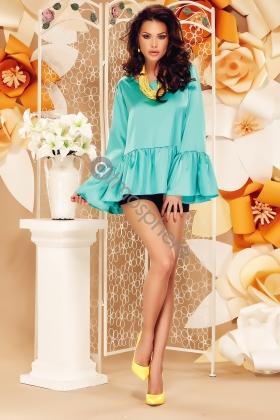 Bluza turquoise cu maneci largi Bln 97