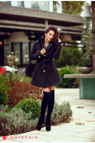 Plt 17 palton stofa negru