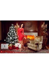 Rn 102 rochie scurta paiete rosii