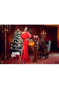 Rn 96 rochie lunga lycra rosie