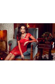 Rn 68 rochie trei sferturi catifea rosie