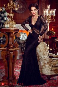 Rn 51 rochie lunga dantela neagra