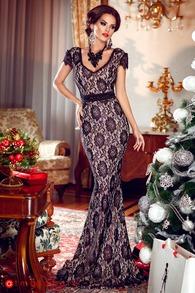 Rn 65 rochie lunga dantela neagra