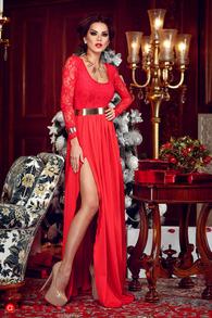 Rn 92 rochie lunga lycra si dantela