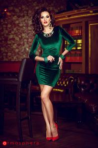 Rn 83 rochie scurta catifea verde