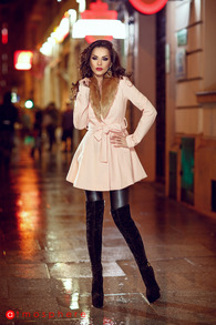 Plt 20 palton stofa roz