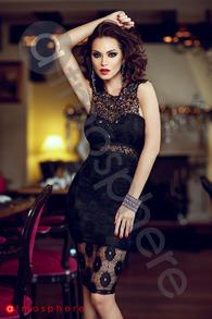 Rn 125 rochie trei sferturi din dantela