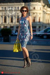 Rn 164 rochie trei sferturi lycra colorata