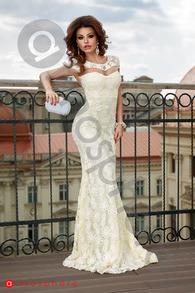 Rn 186 rochie lunga dantela ivoire