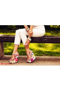 Sandale cu talpa ortopedica inflorata XF-1