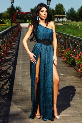 ROCHIE LUNGA TURQUOISE DIN CREPE RN 1998