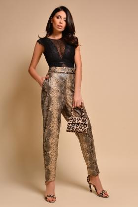 Pantaloni piele ecologica snake P 1019