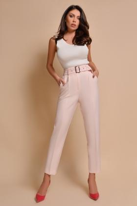 Pantaloni eleganti rose prafuit P 877Rz
