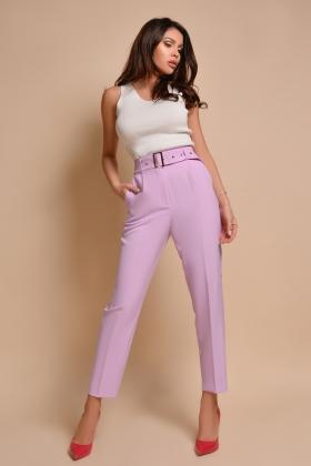Pantaloni eleganti lila P 877L