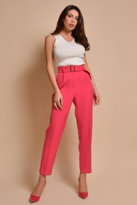 Pantaloni eleganti pink P 877P