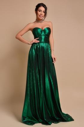 Rochie lunga verde smarald Rn 2575