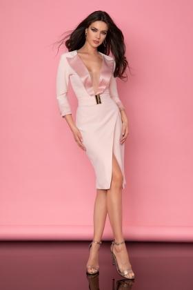 Rochie midi baby pink Rn 2671
