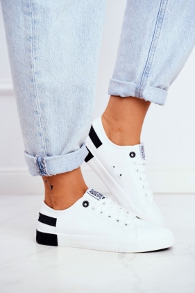 Ghete dama lacuite Adidasi dama BIG STAR FF274175 White Black