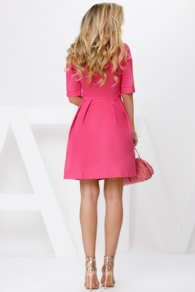 Rochii cocktail Rochie baby doll ciclam Rn 2822