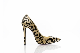 Pantofi stiletto green HR15021g Pantofi stiletto din satin animal print  EO 105