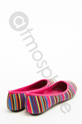 Balerini casual colorati in dungi 559-2