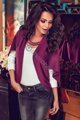 Cardigan casual mov din tricot Cd 946