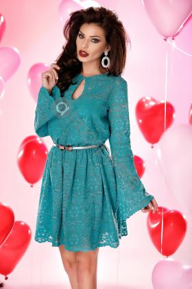 Rochie baby-doll lila Rn 2308 Rochie scurta dantela turquoise Rn 1079