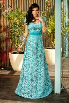 Rochie scurta baby-blue Rn 1981 Rochie lunga dantela turquoise Rn 1373