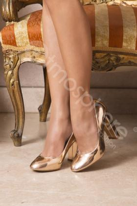 Pantofi stiletto champagne 581-1c imagine