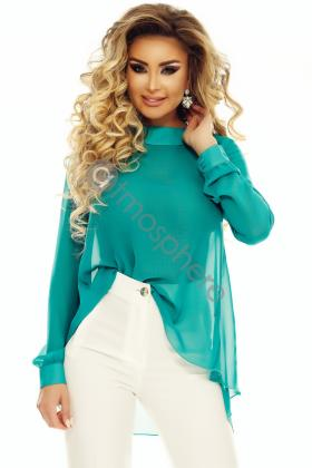 Bluza voal turquoise si perle Bln 188 Bluza voal turquoise Bln 72t