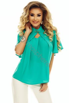 Bluza voal turquoise Bln 208