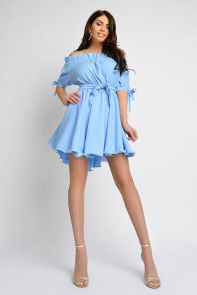 Rochie casual turquoise Rn 2455 Rochie scurta baby-blue Rn 1865b