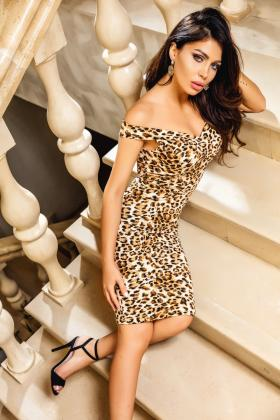Rochie trei sferturi animal print Rn 1846ap Atmosphere-Fashion