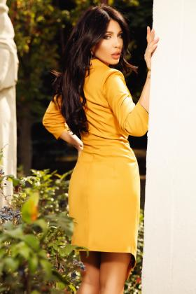 Sacou-rochie mustar sexy S 1110