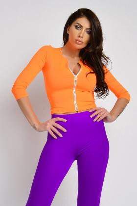 Bluza voal turquoise si perle Bln 188 Bluza fitness Bln 271
