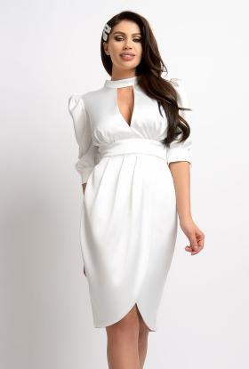 Rochie baby-doll paiete si catifea mov Rn 1035