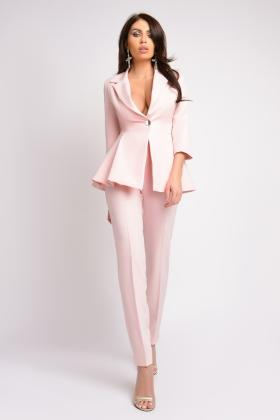 Pantaloni office mov P 930 Pantaloni eleganti rose P 989
