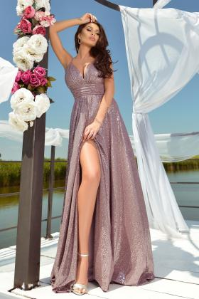 Rochie lunga din crepe Rn 910t Rochie lunga paiete lila Rn 2390