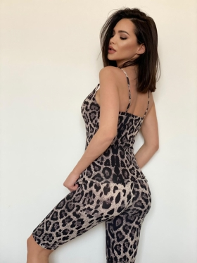 Compleu casual animal print C 003AG