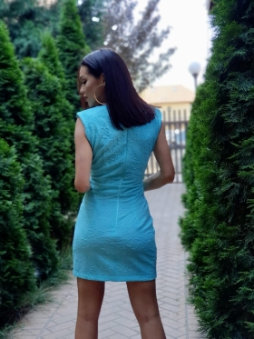 Haine Dama Rochie scurta turquoise Rn 09AG